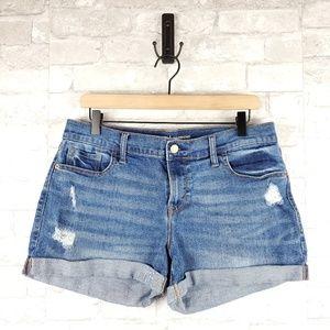 Old Navy Distressed Boyfriend Shorts | Size 10